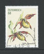 Oostenrijk - Orchidee / Gelber Frauenshuh - 2017 gestempeld