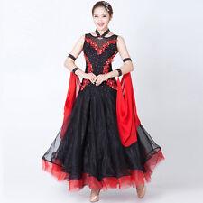 Latin Ballroom Dance Dress Modern Salsa Waltz Standard Long Dress#NN069 2 Colors