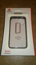 New Griffin Reveal Slim Fit Bumper Case For iPhone 4/4S Black/Clear LOT OF 2