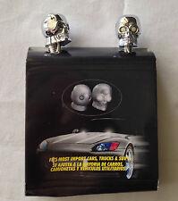 Chrome Skull Universal Windshield Washer Spray Nozzle White LED fits Chevrolet