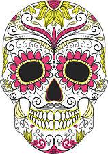 SUGAR SKULL VINILE CAR esterno Adesivi Decalcomanie Messicano Giorno dei Morti Graphic 2