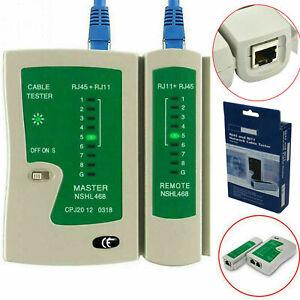 Ethernet Network Cable Tester Rj45 LAN Wire Cat5e Cat6 Rj11 Test Tool Led Light