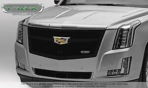 For 2015-2019 Cadillac Escalade Escalade ESV Black Stainless Steel Grille