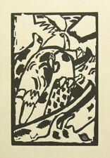 """KANDINSKY mounted vintage ltd ed original woodcut 14 x 11"""" 1913 (1975 ed.) KL2"""