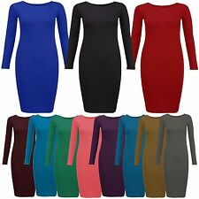 Party Long Sleeve Scoop Neck Dresses Plus Size for Women