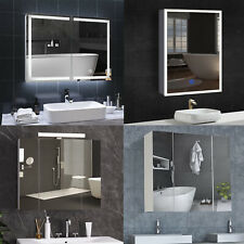 LED Spiegelschrank Badezimmerspiegel Badschrank mit LED-Beleuchtung Hochglanz