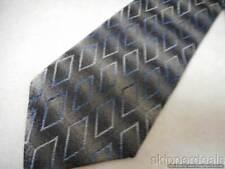 VAN HEUSEN MENS NECKTIE BLACK GRAY BLUE & SILVER DESIGN 100% SILK NEW