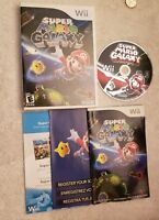 Super Mario Galaxy Nintendo Wii COMPLETE VIDEO GAME GREAT CONDITION