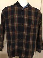 Faded Glory Jean Flannel Reversible Lined SHIRT JACKET MEN's Medium M Snap Denim