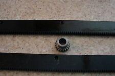 """CNC Stepper Motor Mech Rack & Gear 48"""" Rack (2x24""""pcs) & 1/2"""" 20T Pinion Gear"""