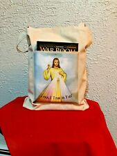 """DIVINE MERCY"" Canvas TOTE BAG with Pocket 13 x 14"" with gussets, *NEW*"