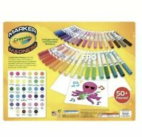 34 Crayola Marker Madness Markers Scented & Neon Art Set With Paper Broad Line