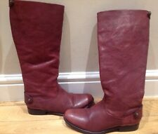 Frye Melissa Button Back Zip Womens leather Knee Boots Size UK 6 US 8