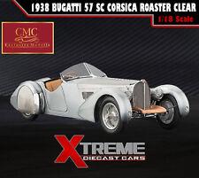 CMC M-134 1:18 1938 BUGATTI 57 SC CORSICA ROASTER CLEAR VERSION L.E. 1,000 CARS