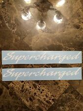 NOS SUPERCHARGED DECAL Sticker for 89-98 Mustang SALEEN Mustang WHITE GT COBRA