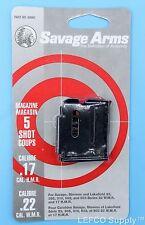 Savage 5 RD Round Magazine 22 Magnum 17 HMR Genuine Clip Mag 93 305 310 502 503