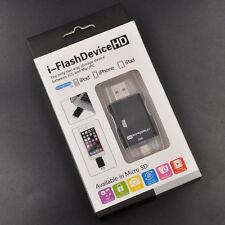 USB i-FlashDrive HD Micro SD Memory Card Reader Adapter For iPHONE 6/6S/Mac/PC