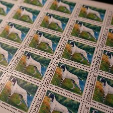 FEUILLE SHEET MONACO N°1425 x30 EXPOSITION CANINE CHIENS 1984 COTE 141€