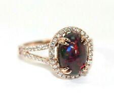 New OPAL, DIAMOND, 14K ROSE GOLD Womens Ring: SIZE 6.5, 4 Grams - Gorgeous!