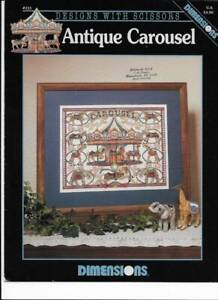 Antique Carousel Cross Stitch Pattern / Chart Pamphlet Dimensions