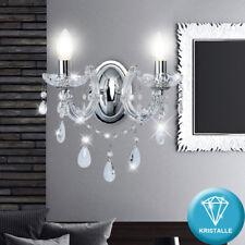 Luxe Chrome Mur Kron Chandelier Chambre à Coucher Verre Cristal avec Pampilles