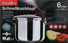 Bratoni Schnellkochtopf 6 Liter Kochtopf Edelstahltopf Neu