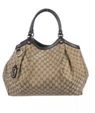 Gucci Large Sukey Tan and brown GG canvas