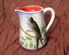 Ancien pichet cruche barbotine à décor oiseau hirondelle Saint clément 740 4