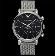 Emporio Armani Herren Uhr AR1808 Chronograph Edelstahl Neu