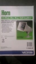 New listing New valcom 15 watt, high efficency paging horn. Outdoor/indoor high quality.