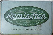"Remington Est1816 USA Cartridges Gun Rifle Shells Retro Metal Tin Sign 8x12"" NEW"