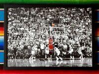 ✺Framed✺ MICHAEL JORDAN Chicago Bulls 'Last Shot' NBA Poster - 45cm x 32cm x 3cm