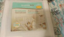 Lot Breathable Baby Mesh Crib Liner Fits 4 Sided Slatted free 2 Crib sheets