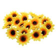 30x Artificial Sunflower Heads Silk Flower Bulk Wedding Party Home Yard Deco