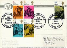 More details for gb 1970 literary anniversaries, old curiosity shop postcard fdc, look!