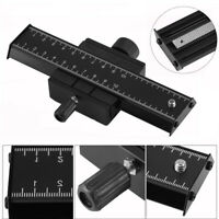 2 Way Macro Focusing Rail Slider QR Plate Photography For Digital DSLR Camera BT