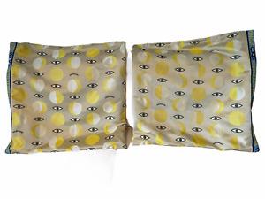 IKEA xWALTER VAN BEIRENDONCK Glodande Wondermooi Eye Pillow Case RARE Yellow x2