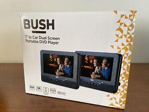 "BUSH 7"" In Car Dual Screen Portable DVD Player"