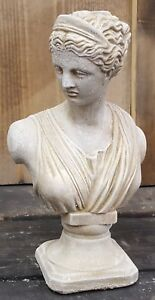 Antique Sandstone Greek Roman Diana Bust Statue