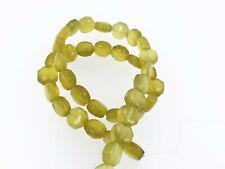 Korean jade smooth hexagon beads 6x10 mm. Natural olive green jade beads