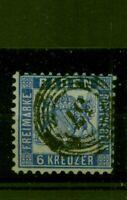 Baden, Wappen Nr. 19 gestempelt