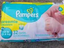 MICRO Preemie Pampers   4lb ~ XS Diapers * 32 ct ~ Baby NEWBORN Swaddler P2 NICU