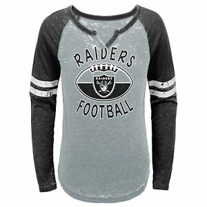 Outerstuff NFL Youth Girls (7-16) Oakland Raiders Long Sleeve T-Shirt