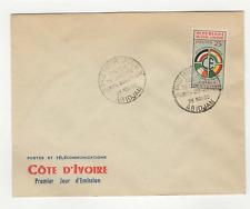 Côte d'Ivoire 1 timbre sur lettre FDC 1960 tampon Abidjan /L524