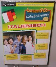 Italienisch Vokabeltrainer Software Schule Beruf Urlaub PC CD-ROM Lernen T102