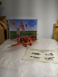 Gulf Collector Series Airplane Bank Number Three Die-Cast Metal Limited Edition