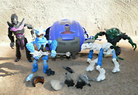 LEGO GALIDOR ACTION FIGURE LOT SPACE SHIP TDN MODULE BUILDING BLOCKS ALIENS