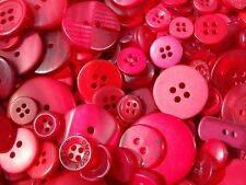 100 Red Sewing Buttons