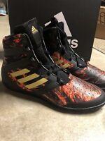 Adidas Flying Impact Wrestling Training Shoes Gold Black CQ1767 Men's Size 8