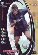 FOOTBALL CHAMPIONS FOIL CHRISTIAN VIERI 2001-02 071/230 VERSIONE CORRETTA ITA